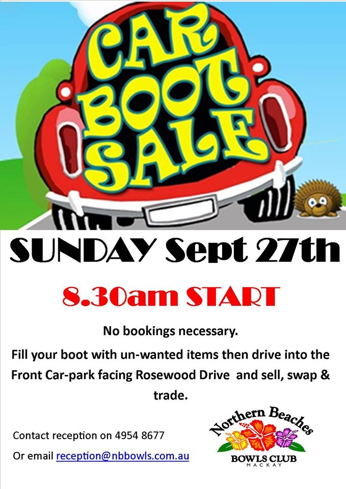 Car Boot Sale Northern Beaches Bowls Club